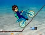 لعبة دراجة بن تن تحت الماء